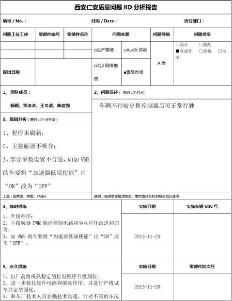 质量问题8D报告2