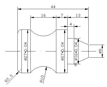 机械零件数控车削生产实训报告