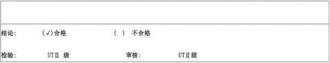 无损检测报告格式MTPTRTUT检验报告