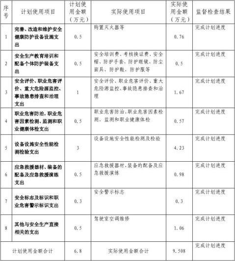 5安全生产费用监督检查表