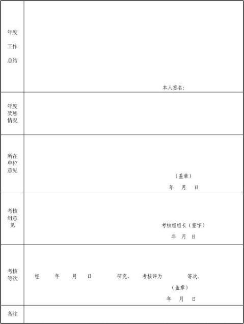 领导干部年度考核登记表1