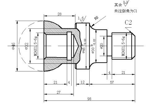 典型零件数控仿真车削加工实训报告