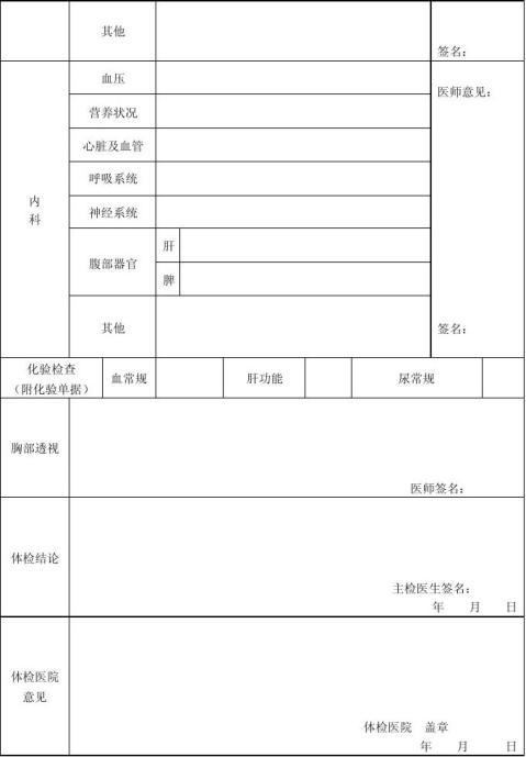 教师资格认定申请表示范文本