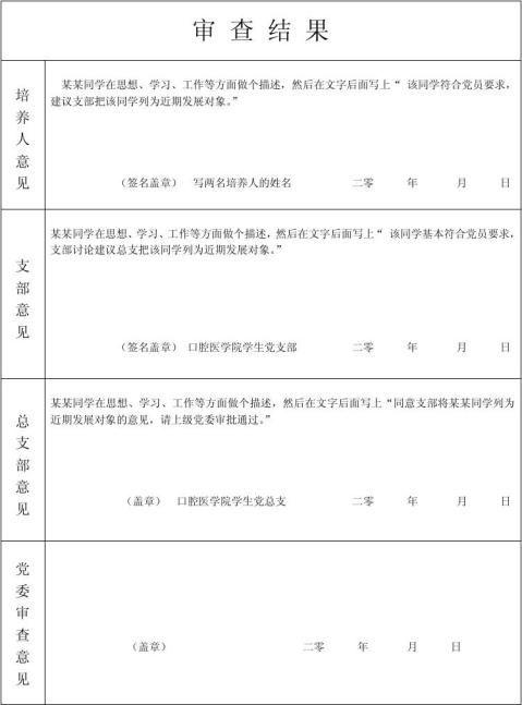 入党积极分子考察登记表范本1