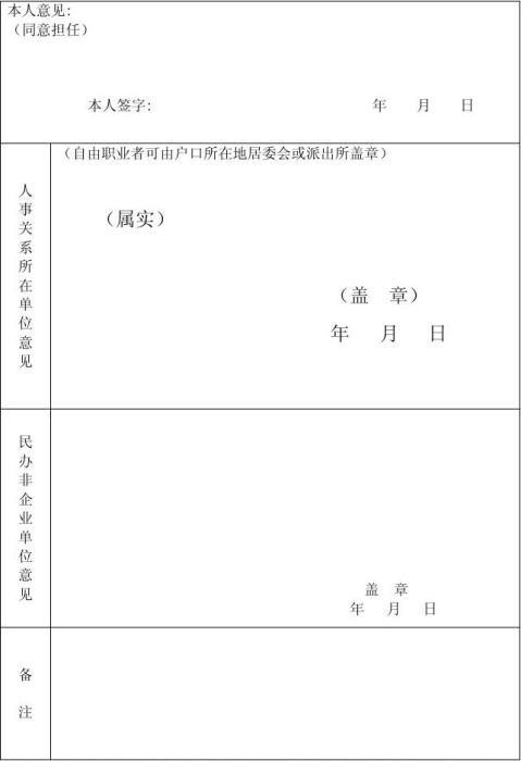 民办非企业单位登记申请表
