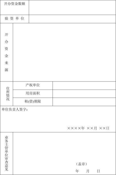 民办非企业单位个人登记申请表格式文本