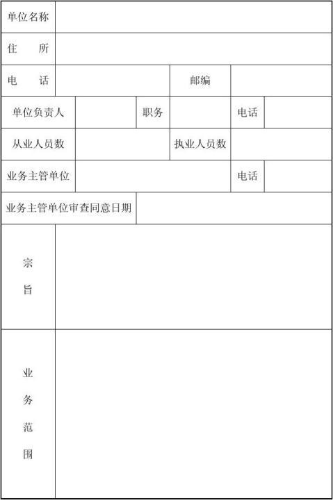 民办非企业单位个体登记申请表