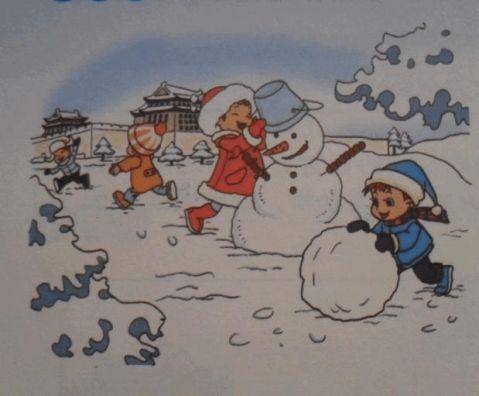 一年级下册看图写话下雪啦shitingquyanxiang