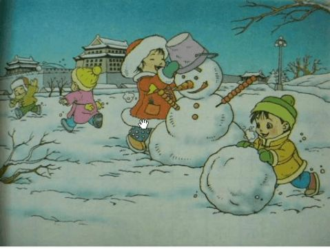 二年级看图写话下雪了