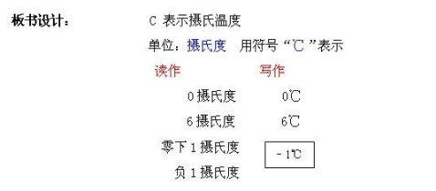 温度和温度计教学设计及反思