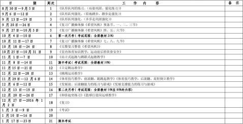 20xx20xx第一学期万安学校四年级体育学科行事历周华雄