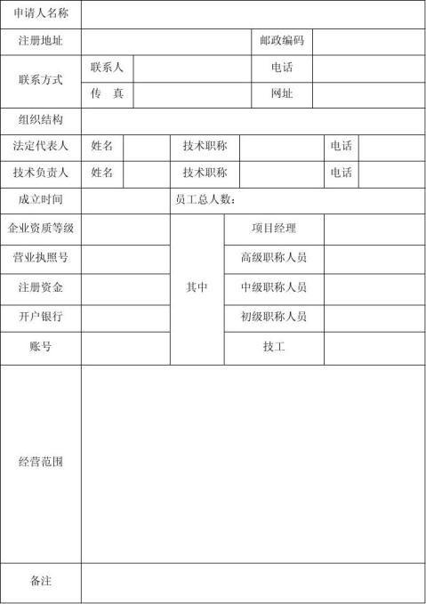 市政工程资格预审文件范本