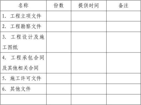 建设工程监理合同示范文本